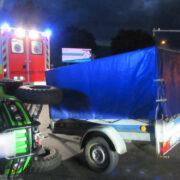 Bei einem Unfall in Hof ist ein Quad umgekippt. Der Fahrer (21) verletzte sich. Foto: Polizei Hof