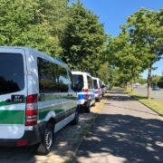 Leiche in Bayreuth gefunden. Die Polizei setzt die Suche an der Universität Bayreuth fort. Foto: Christoph Wiedemann