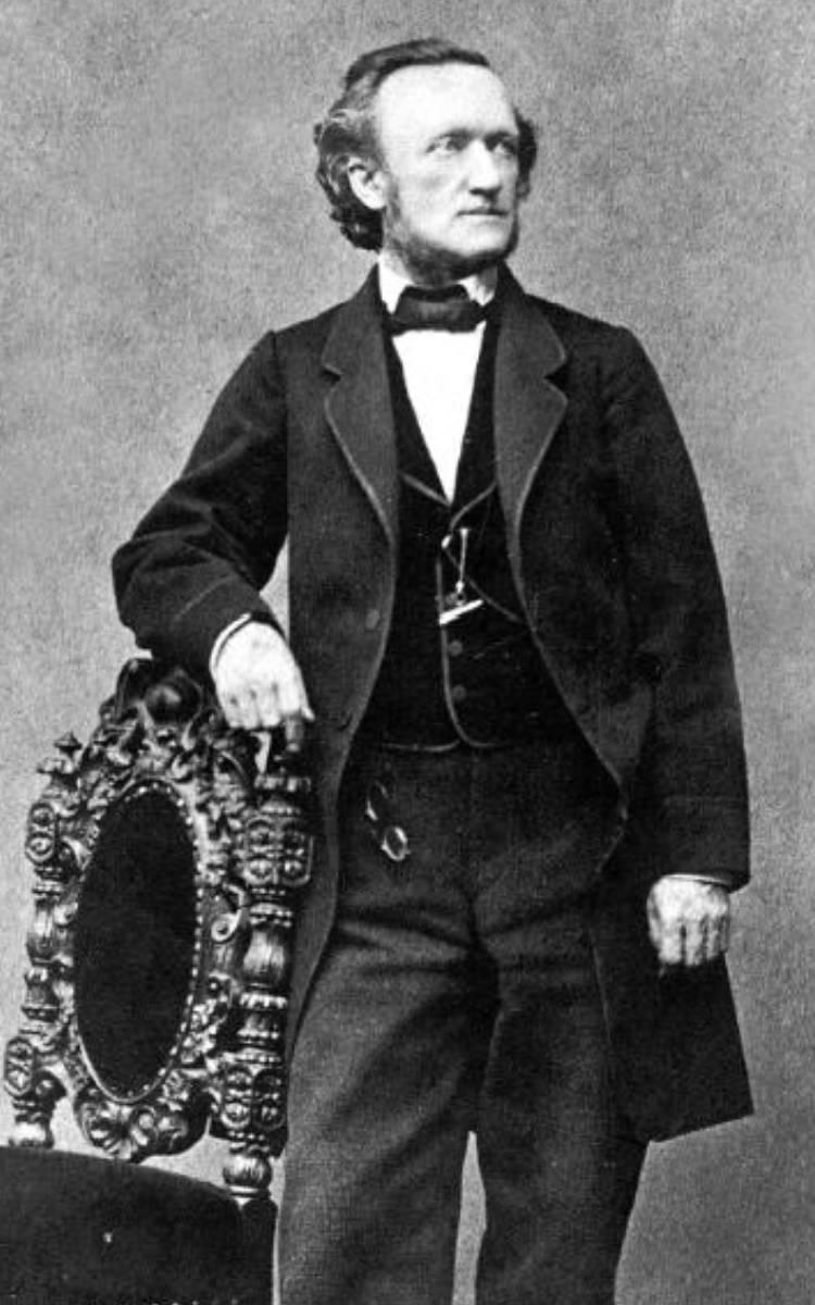 Richard Wagner 1864. Foto: Joseph Albert