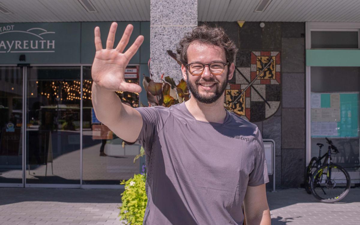Bayreuths 2. Bürgermeister Andreas Zippel so, wie ihn nur die wenigsten kennen. Das bt hat ihm auch politisch auf den Zahn gefühlt. Foto: Tom Grünbauer, GMK