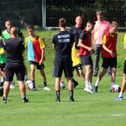 Die Nachwuchstalente der SpVgg Bayreuth trainierten unter Anleitung von insgesamt acht Trainern. Foto: SpVgg Bayreuth