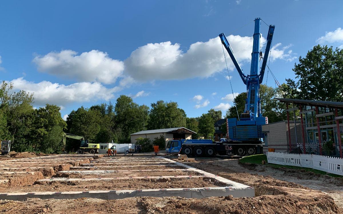 Der Modulbau am BKH Bayreuth soll auf diesem Gelände entstehen. Foto: Katharina Adler