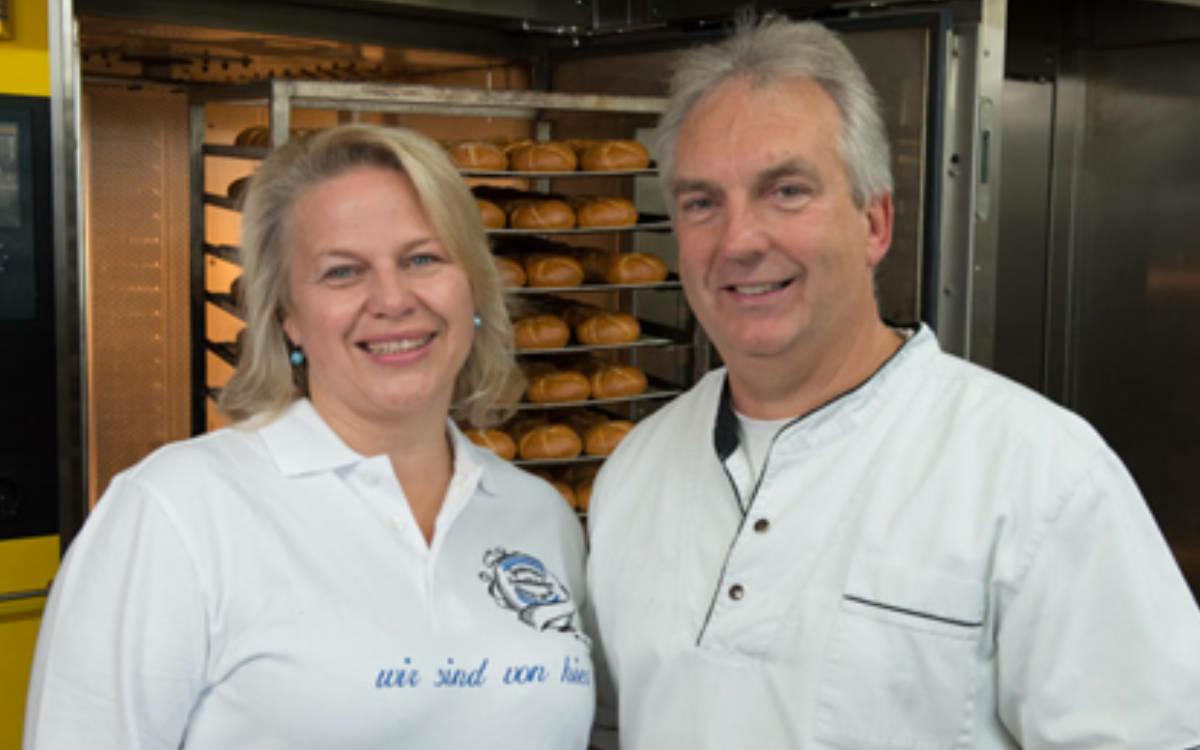 Sylvia Schatz-Seidel mit ihrem Mann Wolfgang Seidel. Foto: Geseeser Landbäckerei