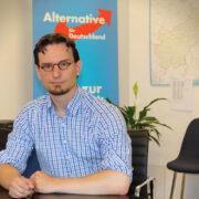 Die Bayreuther AfD schickt Tobias Peterka im Wahlkreis 237 als Direktkandidat ins Rennen. Foto: AfD