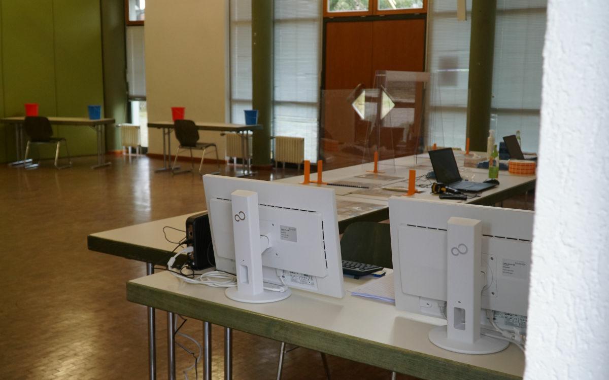 Das neue Corona-Testzentrum in Bayreuth: So sieht es aus. Foto: Raphael Weiß