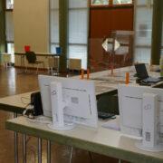 Das Corona-Testzentrum in Aichig in Bayreuth ist derzeit überlastet. Archivfoto: Raphael Weiß