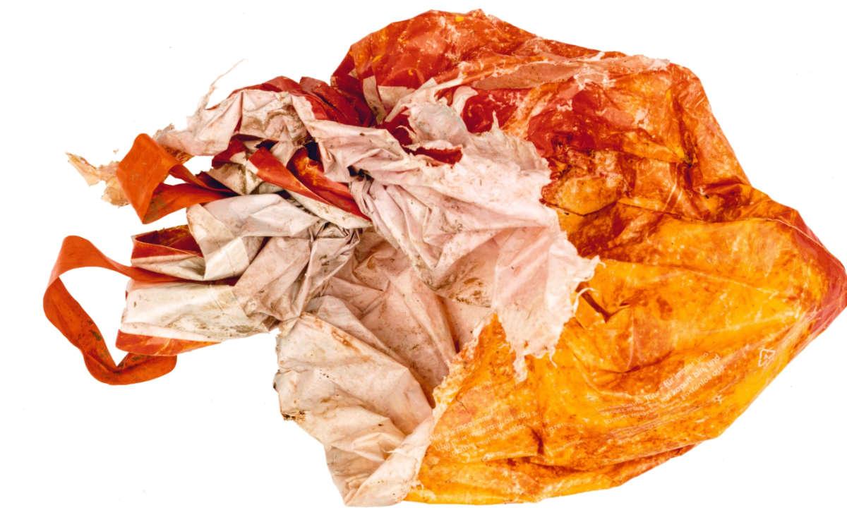 In dieser Plastiktüte wurde in Sachsen eine Babyleiche gefunden. Foto: Polizei