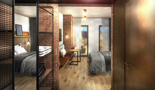 So soll das neue Smart-Hotel der Brauerei Maisel von Innen aussehen. Grafik: Brauerei Maisel