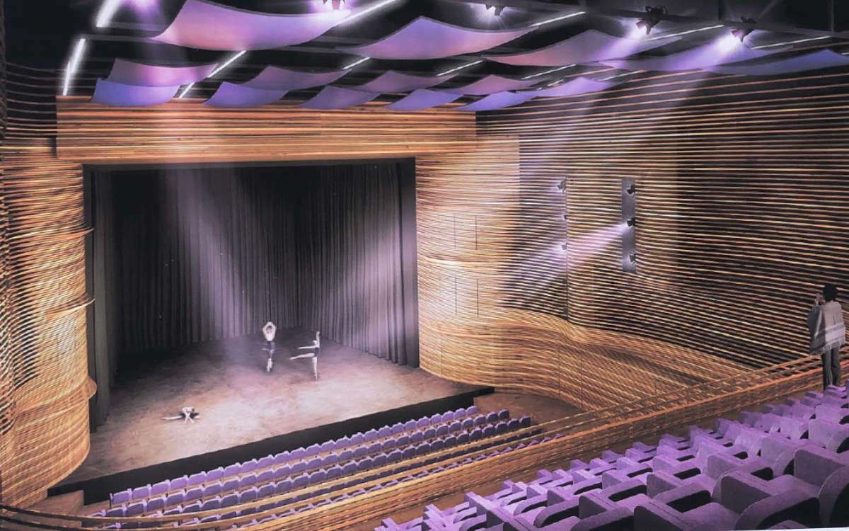 Der Große Saal im Friedrichsforum. Grafik: Stadt Bayreuth