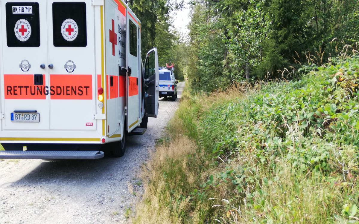 Eine Frau ist am Ochsenkopf gestürzt und hat sich schwer verletzt. Foto: Bergwacht Bayreuth