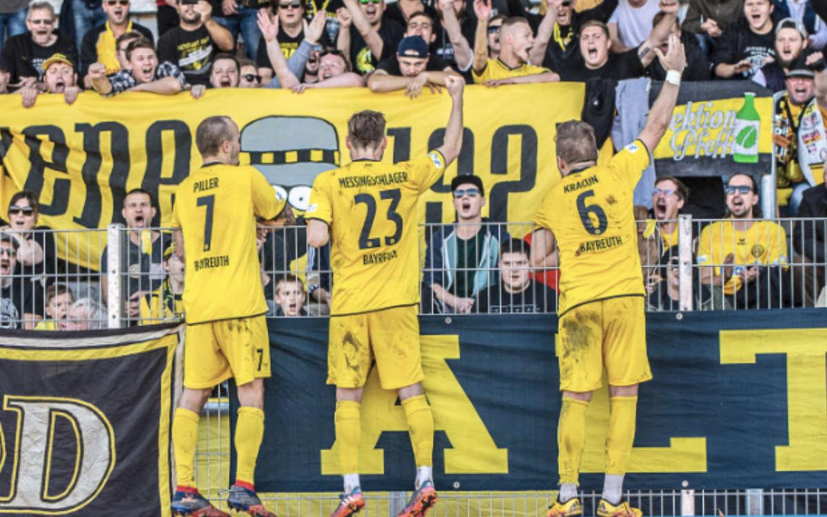Die SpVgg Bayreuth empfängt am Samstag (26.9.2020) den VfB Eichstätt. Im Hans-Walter-Wild-Stadion dürfen dabei 1.000 Fans dabei sein. Archiv: Peter Glaser/SpVgg Bayreuth