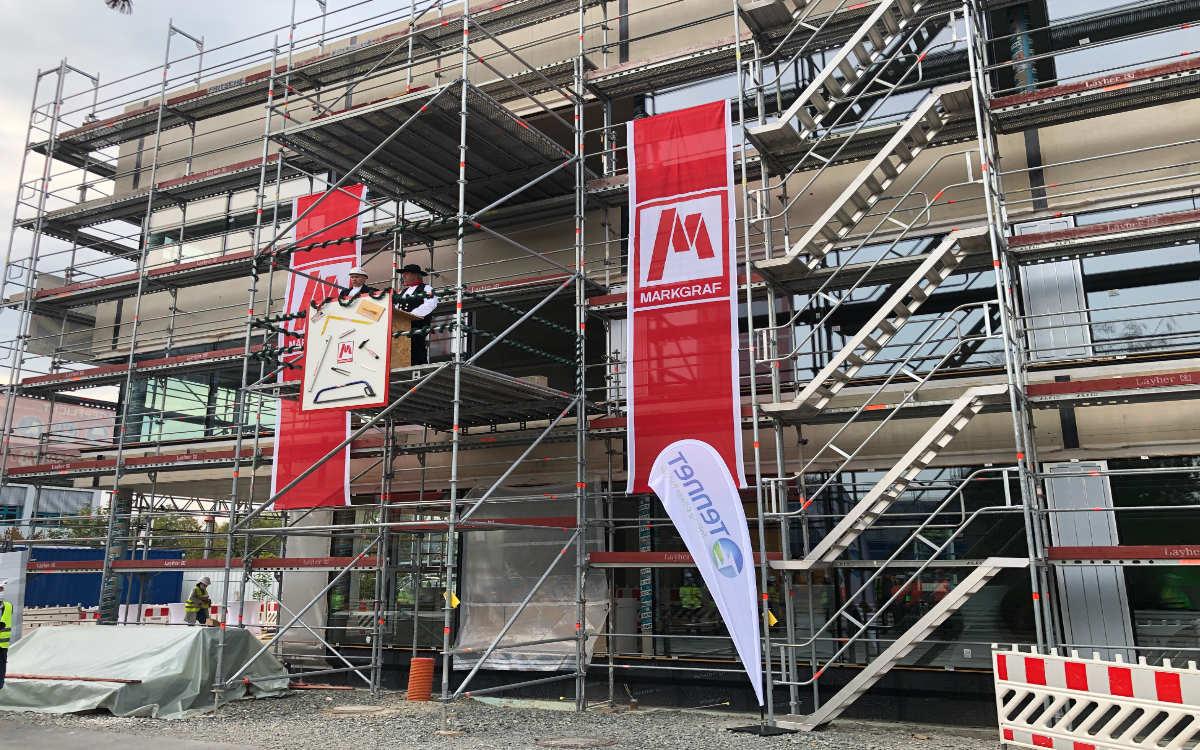 Richtfest bei Tennet in Bayreuth für das neue Bürogebäude. Foto: Christoph Wiedemann