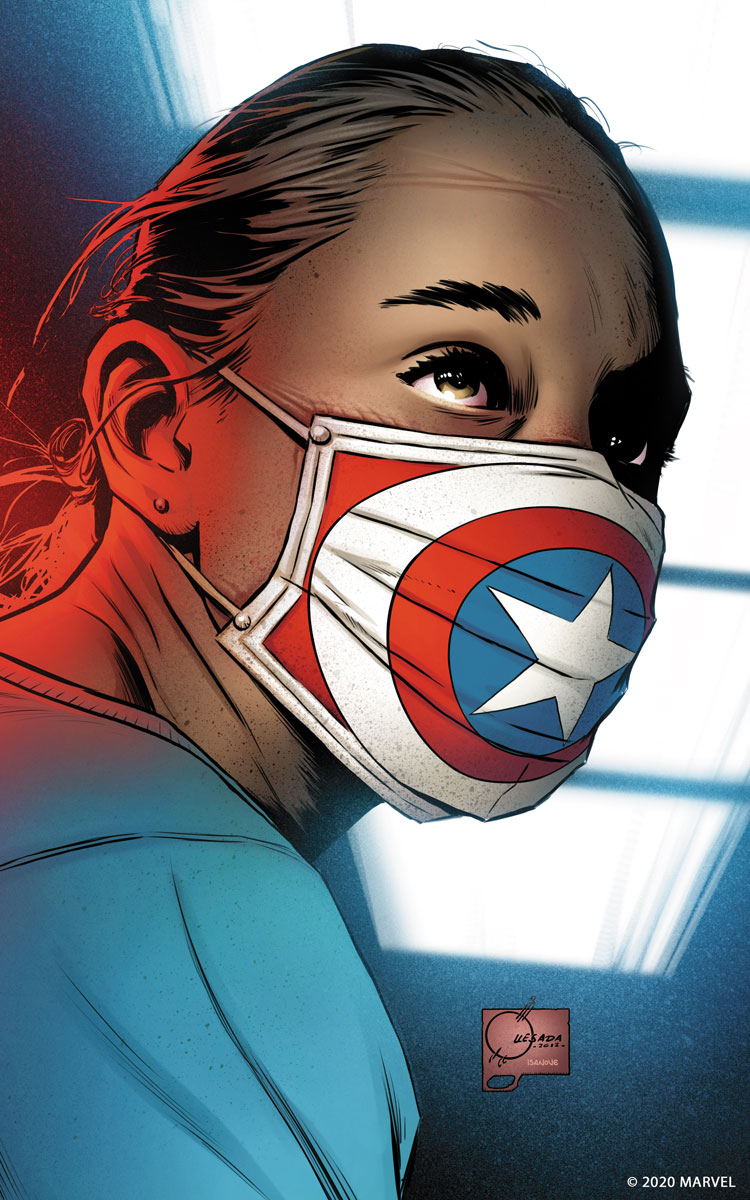"""""""I am America"""" von Joe Quesada, koloriert von Richard Isanove, © 2020 MARVEL"""