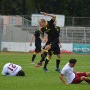 SpVgg Bayreuth gegen 1. FCN II am Samstag, 24.10.2020. Foto: Raphael Weiß
