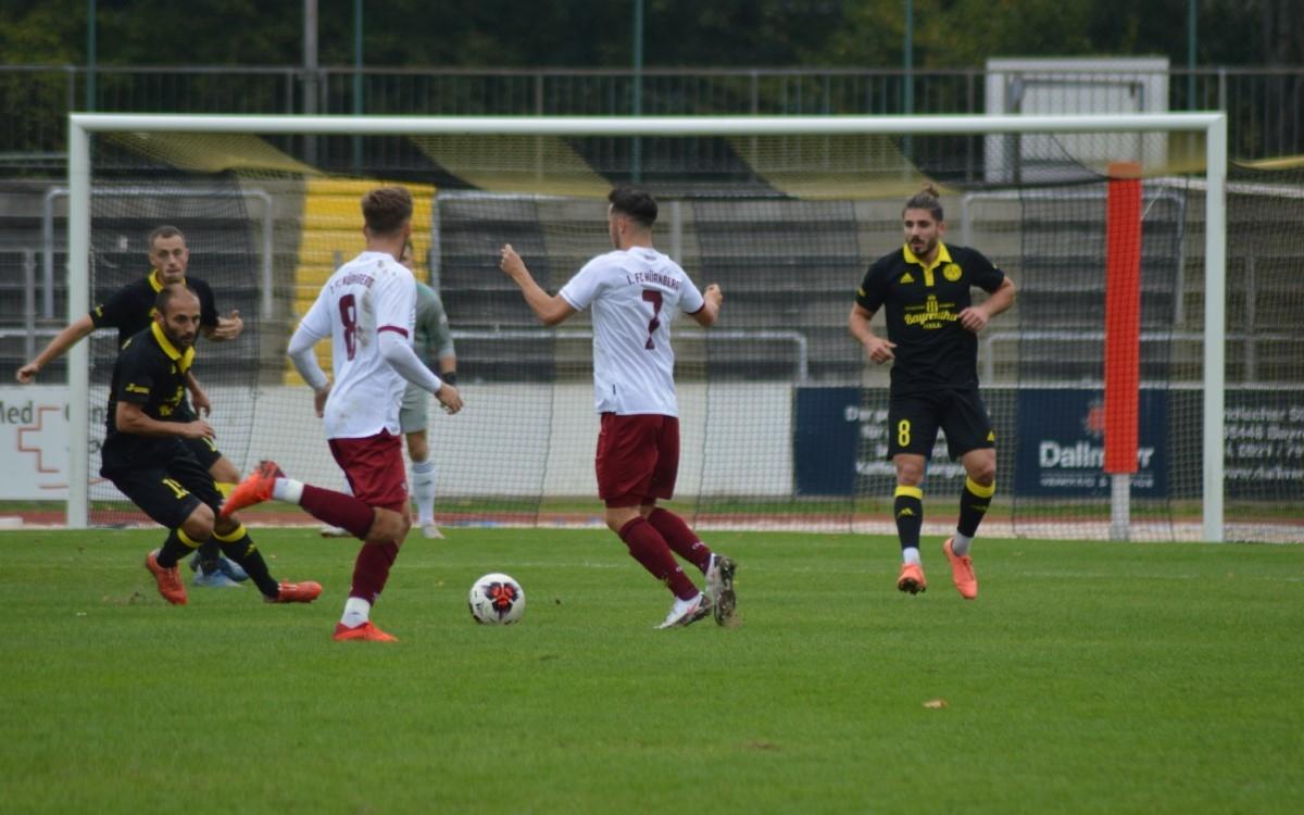 Im Heimspiel gegen die zweite Mannschaft des 1. FC Nürnberg, trennte sich die SpVgg Bayreuth mit 1:0 von den Gästen. Foto: Raphael Weiß
