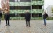 Am Mittwoch (28.10.2020) hat die GEWOG Bayreuth eine neue Wohnanlage am Grünen Hügel vorgestellt. (von links): Architekt Maximilan Küfner, Oberbürgermeister Thomas Ebersberger, GEWOG-Geschäftsführer Uwe Proschka. Foto: Raphael Weiß