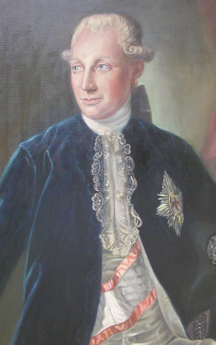 Markgraf Alexander tritt das Fürstentum Bayreuth an Preußen ab. Repro: Stephan Müller