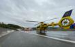 Unfall am Bindlacher Berg im Landkreis Bayreuth am Dienstag (6.10.2020): Rettungshubschrauber im Einsatz. Foto: News5/Holzheimer