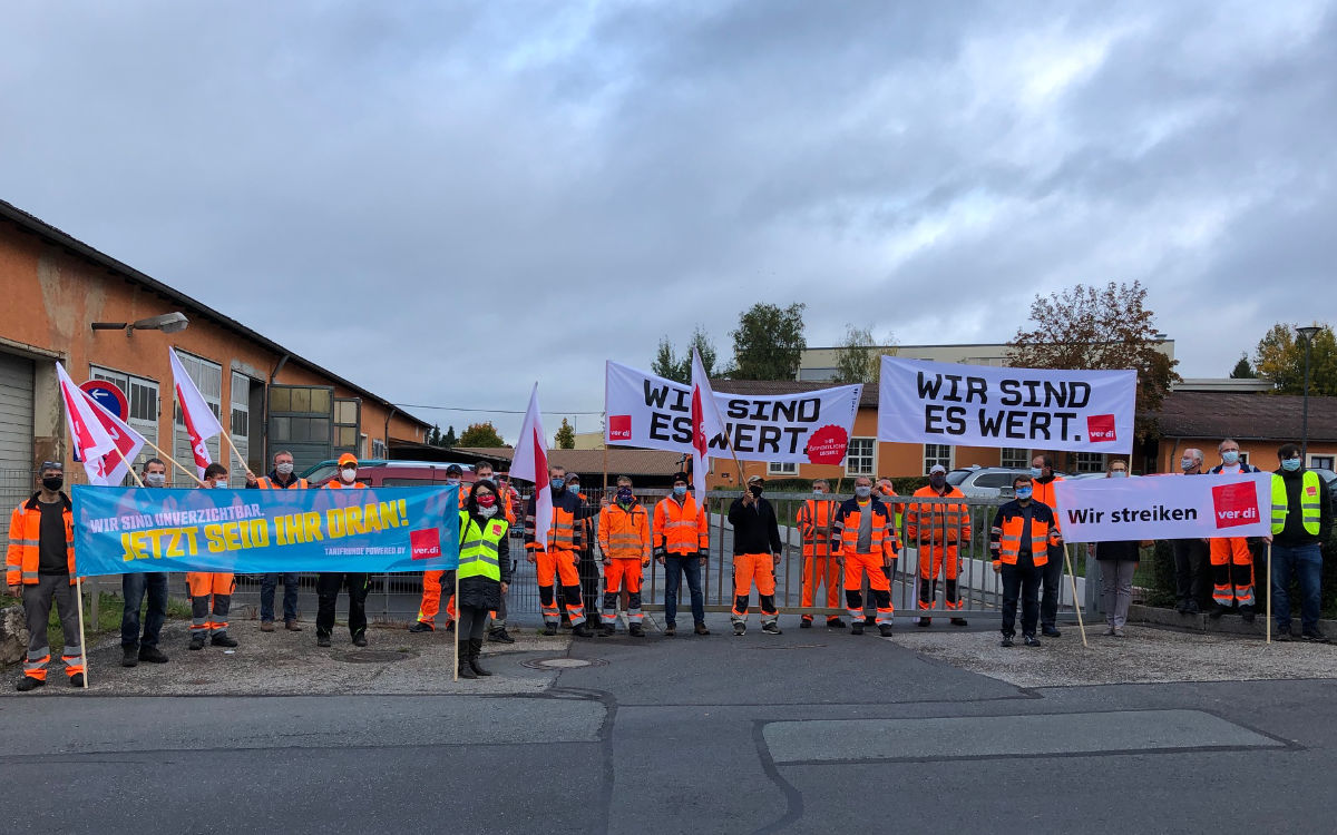 Die Bauhöfe in Pegnitz und Pottenstein haben am Donnerstag (8.10.2020) gestreikt. Foto: Katharina Adler