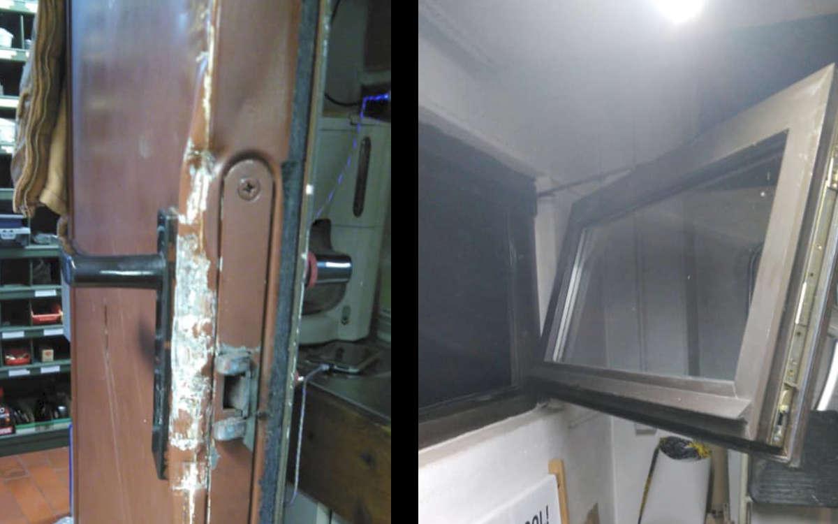 Einbruch in eine Werkstatt in Weißenstadt: In den sozialen Medien werden Zeugen gesucht. Foto: Privat