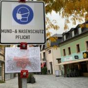 Maskenpflicht an öffentlichen Plätzen in Bayreuth. Foto: Katharina Adler