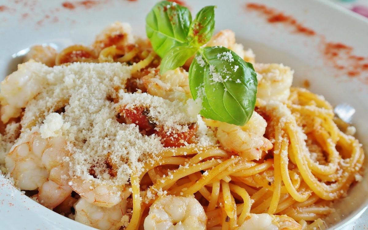 Spaghetti mit Garnelen. Foto: pixabay