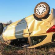 Auto überschlägt sich mehrfach: Vier Verletzte nach Unfall in Oberfranken. Foto: News5/Schwab