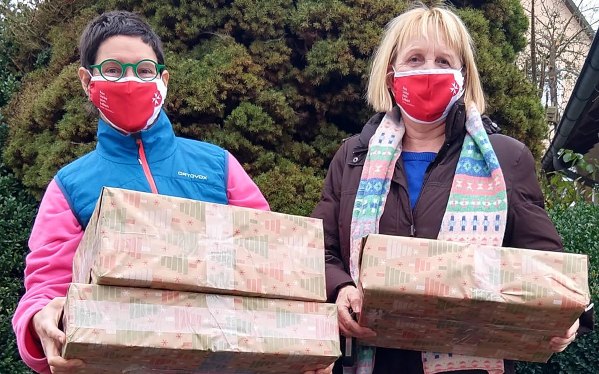 Anouk Janssen und Christine Fuchs, engagieren sich ehrenamtlich bei Lacrima und wollen die von ihnen betreuten Kinder trotz Kontaktsperre weiter begleiten. Foto: Johanniter-Unfall-Hilfe e.V.