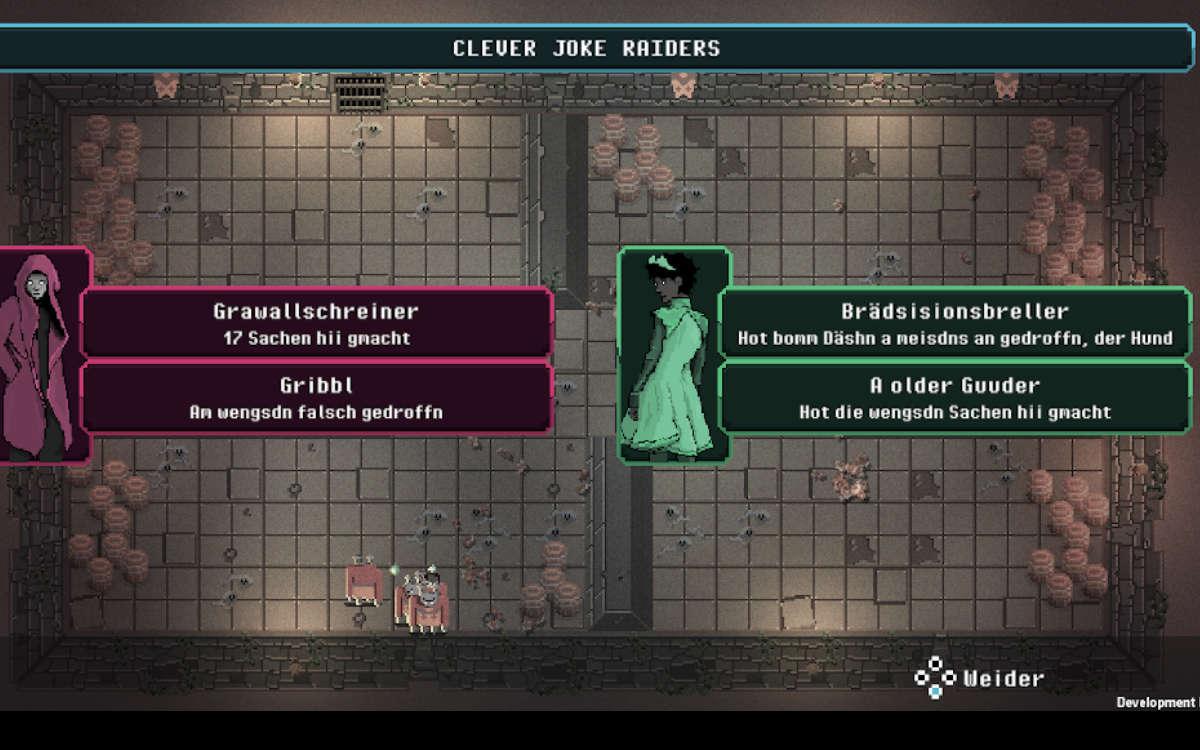 Das neue Game xDasher, das Bayreuther Studenten entwickelt haben, hat auch eine fränkische Übersetzung. Foto: Pixel Beef Games