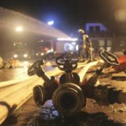 Auf der Veolia-Müllhalde in Kulmbach hat es in der Nacht auf Sonntag (15.11.2020) gebrannt. Es kam zu einem Großeinsatz. Foto: News5/Holzheimer