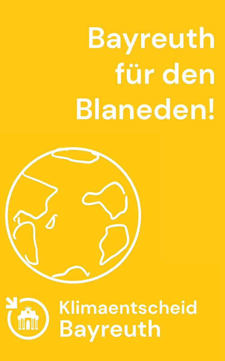 Plakat des Klimaentscheids Bayreuth. Foto: Klimaentscheid Bayreuth