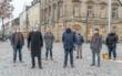 Die Umgestaltung der Fußgängerzone in Bayreuth ist abgeschlossen. Am Donnerstag (26.11.2020) hat Oberbürgermeister Thomas Ebersberger den letzten Bauabschnitt seiner Bestimmung übergeben. Foto: Andreas Harbach