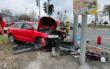 Unfall auf der B303 bei Wirsberg. Die Straße ist komplett gesperrt. Foto: News5/Fricke