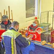 Das BRK hat die Feuerwehrleute bei dem Brand in Bischofsgrün versorgt. Der Einsatz dauerte mehrere Stunden. Foto: BRK Bayreuth