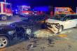 Vorfahrt übersehen: Mehrere Verletzte nach Verkehrsunfall am Freitagabend in Oberfranken. Bild: News5/19344