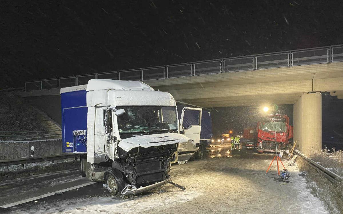 Unfall auf der A73 im Kreis Bamberg. Foto: News5/Merzbach