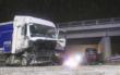 Schwerer Unfall zwischen zwei Lkw am Dienstagmorgen (1.12.2020) im Kreis Bamberg bei Hirschaid. Foto: News 5/Merzbach