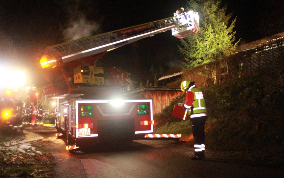 Feuer in Freienfels im Kreis Bayreuth. Foto: NEWS5/ Holzheimer