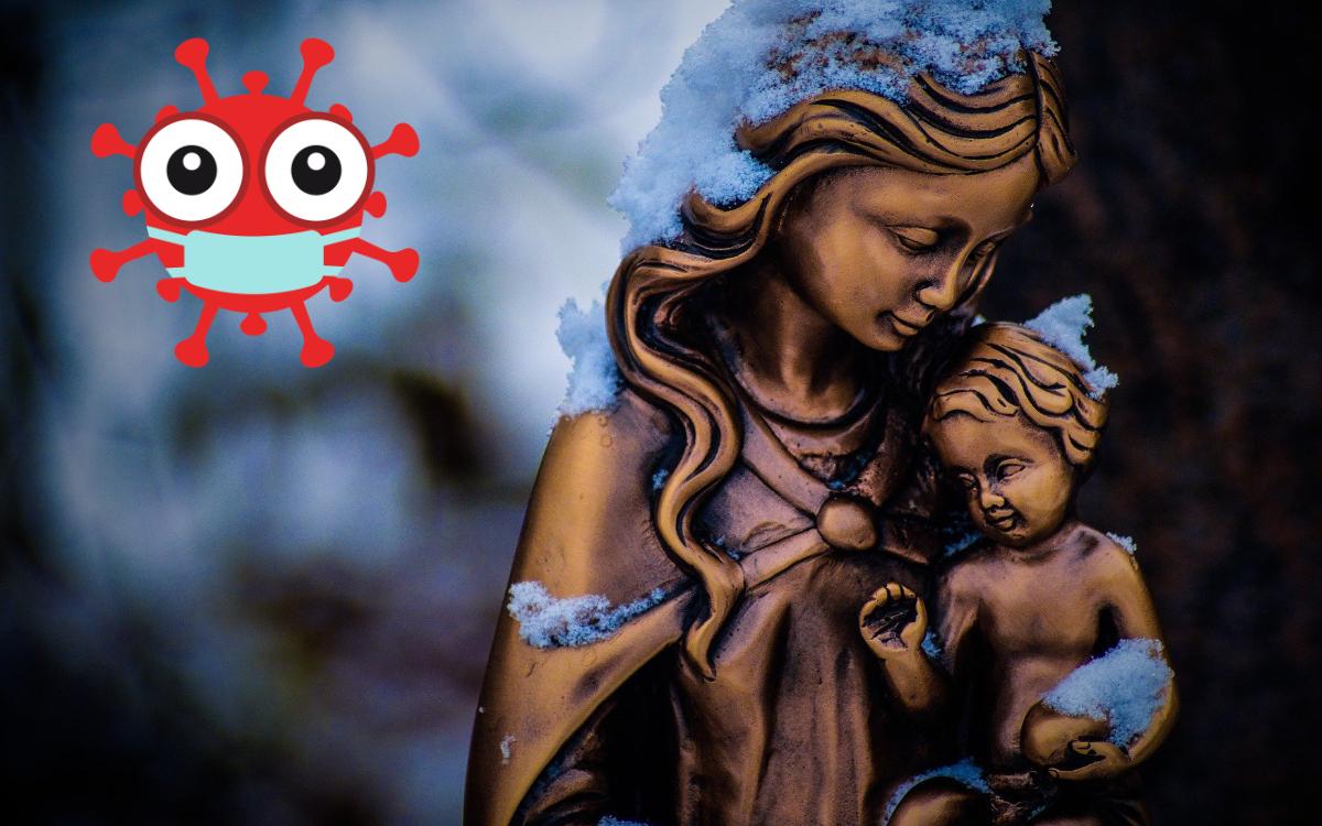 An Weihnachten feiern die Christen die Geburt Jesu. Wie das in der Corona-Pandemie geht, wollte das bt von Pfarrern aus dem Landkreis Bayreuth wissen. Symbolfotos/Montage pixabay