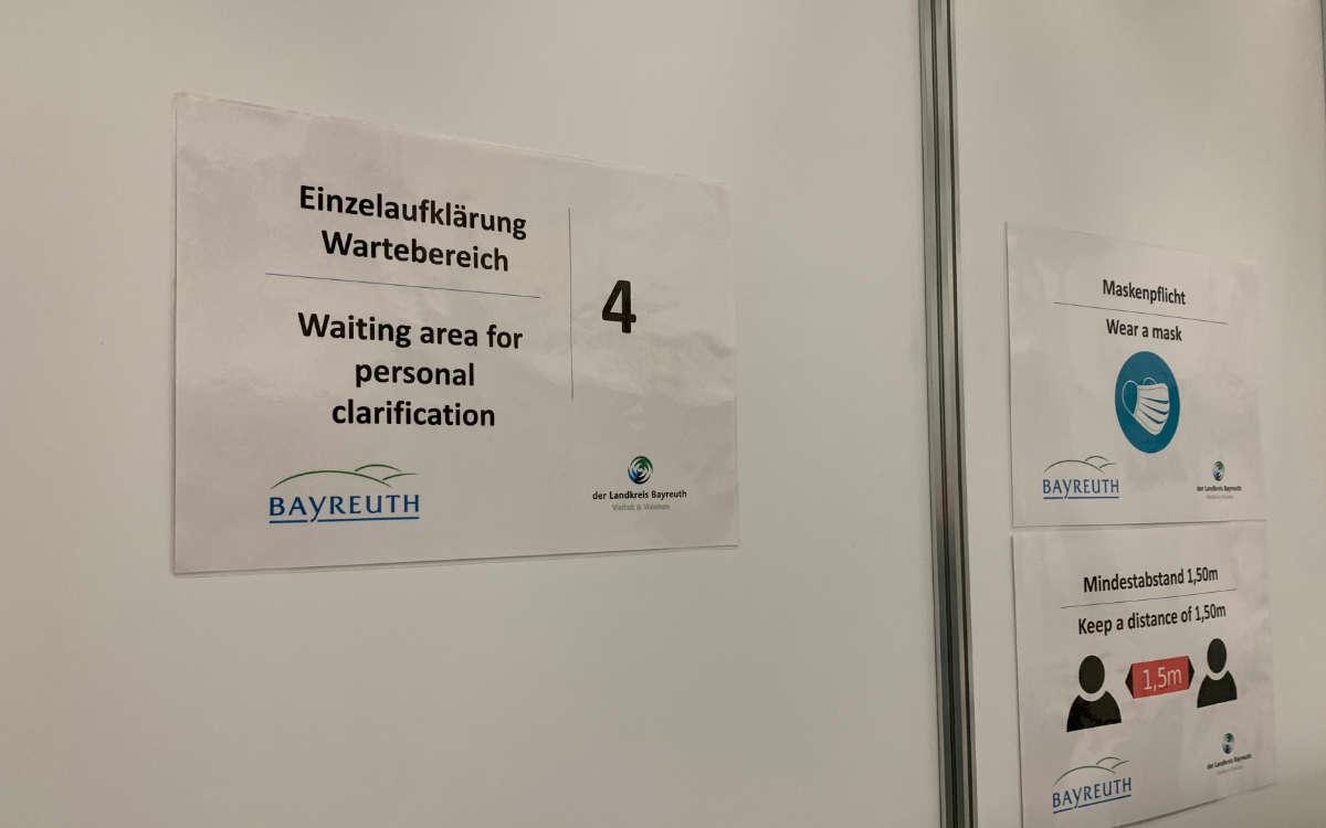 Das gemeinsame Impfzentrum von Bayreuth Stadt und Land in der Kolpingstraße 7 in Bayreuth. Foto: Katharina Adler