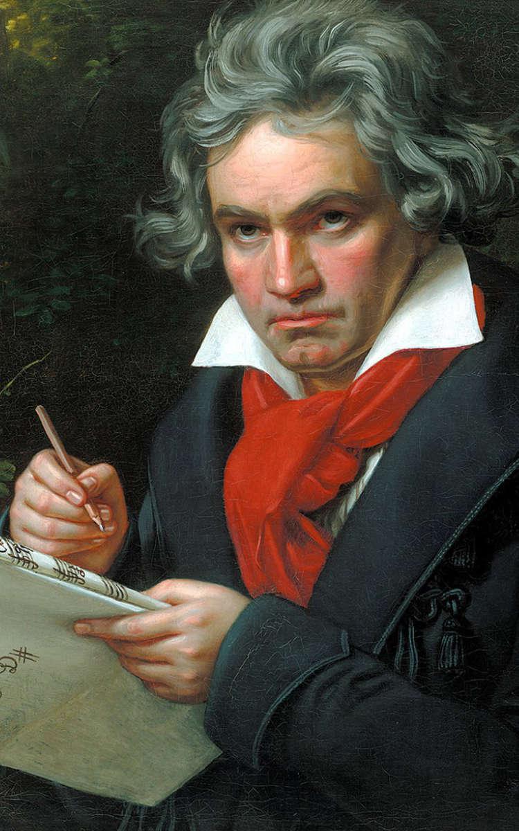 Ludwig van Beethoven. Gemälde von Joseph Karl Stieler um 1820. Foto: Archiv Bernd Mayer.