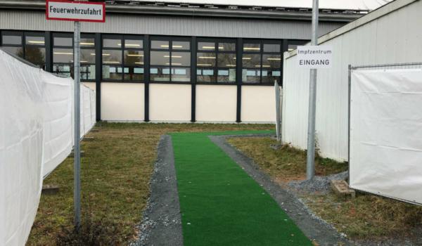 Impfzentrum an der Johannes-Kepler-Realschule in Bayreuth: Von Dezember 2020 bis September 2021 in Betrieb. Archivfoto: Katharina Adler