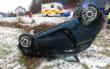 Unfall bei Ködnitz im Kreis Kulmbach: 27-Jährige schwer verletzt. Foto: Polizei