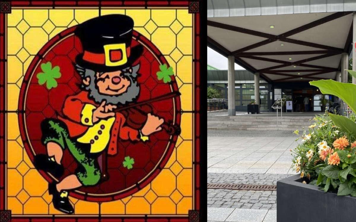 """Mit """"Best Wishes"""" von einem Weltstar: Das Dubliners in Bayreuth arbeitet für Klinikum GmbH-Mitarbeiter auf Nullrunde. Foto: Dubliner Bayreuth, Redaktion (Montage)"""