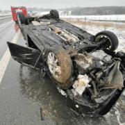 Unfall am 3.1.2020 im Landkreis Hof in Oberfranken. Foto N5/Fricke