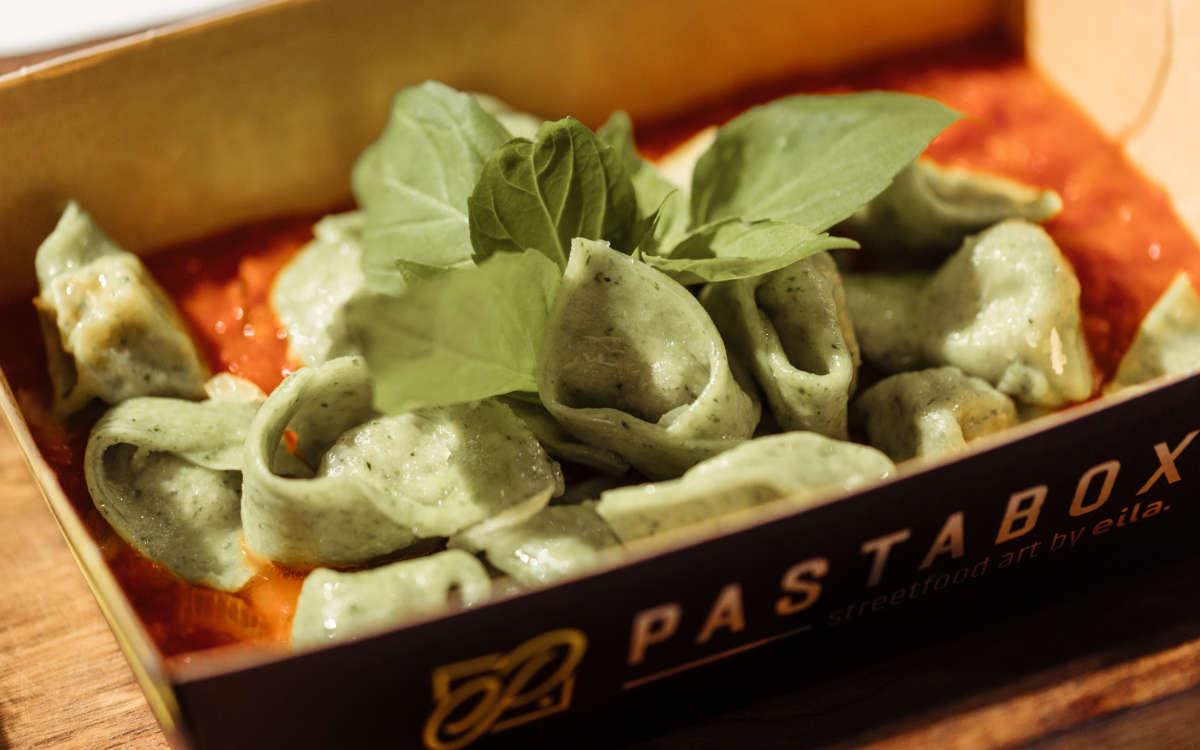So sieht die leckere Pasta der Pastabox in Bayreuth aus. Foto: Pastabox by eila
