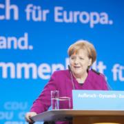 Bundeskanzlerin Angela Merkel meldet sich nach dem Impfgipfel in einer Pressekonferenz. Archivfoto: CDU/Laurence Chaperon