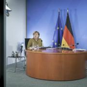 Bundeskanzlerin Angela Merkel verkündet die Ergebnisse der Ministerpräsidentenkonferenz. Archivfoto: Bundesregierung / Jesco Denzel