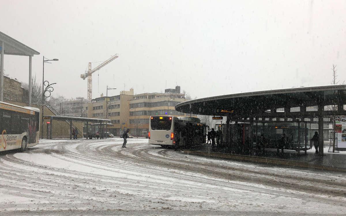 Der ZOH im Winter: Schüler der Markgrafenschule mussten ihre Monatskarten für den Januar zurückschicken. Foto: Katharina Adler