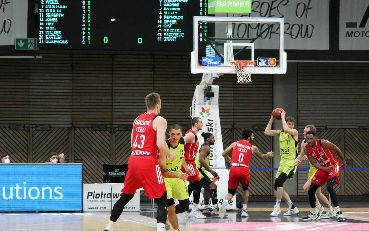 medi bayreuth besteht mit Leidenschaft und Kampf gegen die Telekom Baskets Bonn. Archivfoto: Katharina Adler